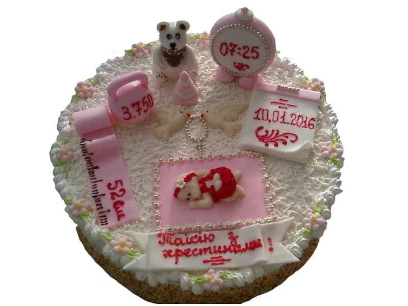 Торт на хрестини з мішкою