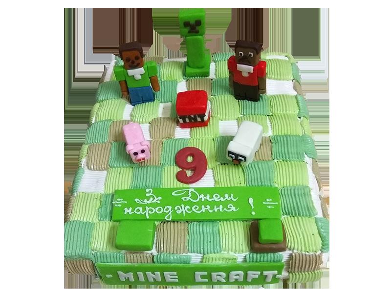 Торт mine craft