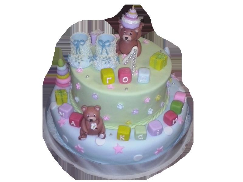 Торт на один рік з мішками