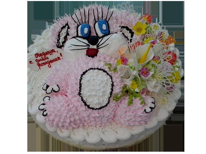 Торт рожевий песик