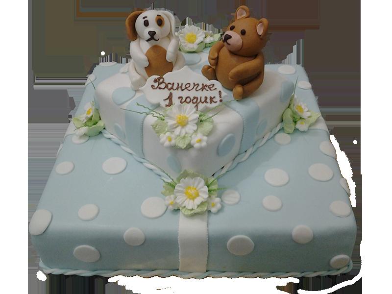 Торт з собакою та мішкою