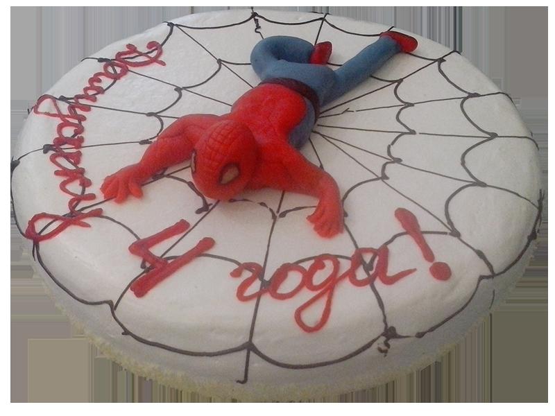 Торт зі Спайдерменом
