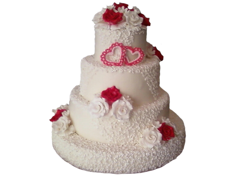 Торт весільний з чотирьох ярусів