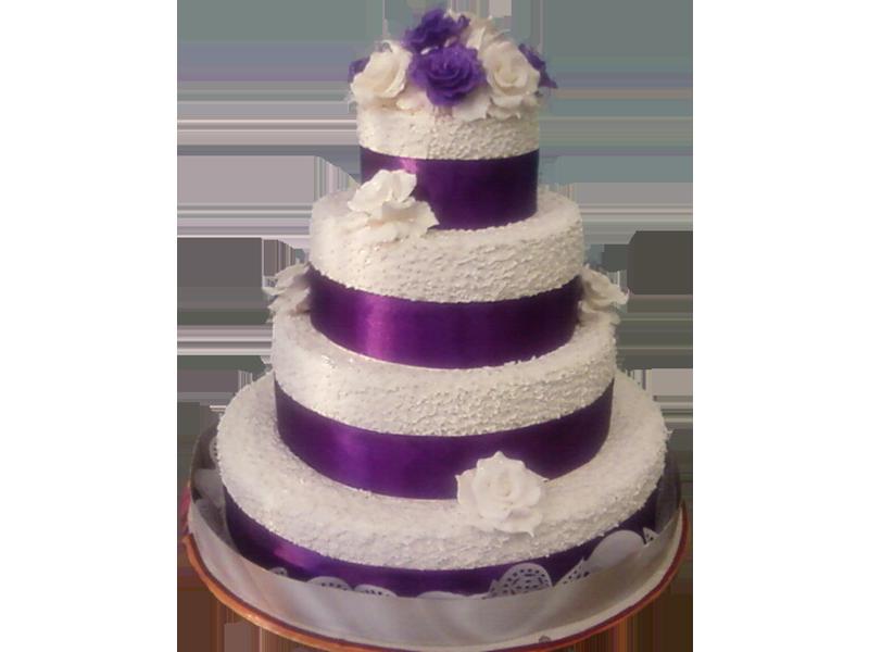Торт з фіолетовими смужками