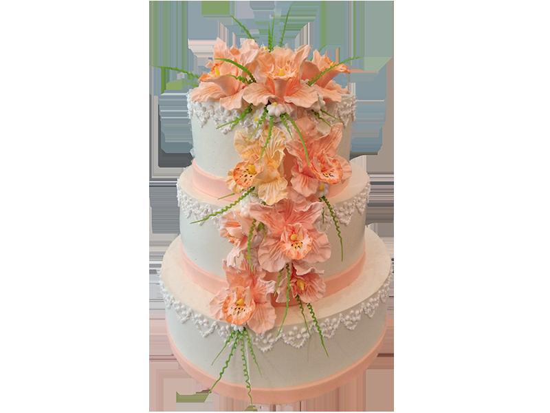 Торт з помаранчевими квітами