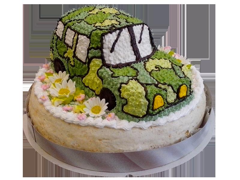 Торт зелене авто